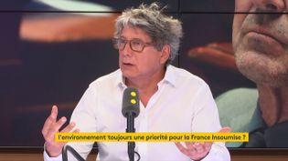 Le député La France insoumise plaide pour une meilleure prise en compte de la question écologique. (FRANCEINFO)