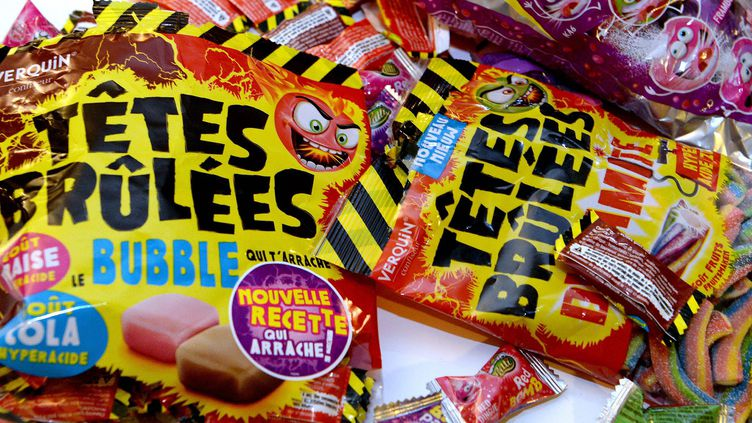 """Des bonbons """"Têtes brûlées"""" de la marque Verquin Confiseur. (Photo d'illustration) (MAXPPP)"""