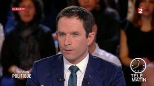 Benoît Hamon était l'invité de L'Émission politique sur France 2. (FRANCE 2)