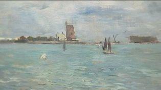 Le musée d'Honfleur (Calvados) consacré à Eugène Boudin a eu la surprise de recevoir une oeuvre du peintre, offerte par une inconnue. (FRANCE 3)