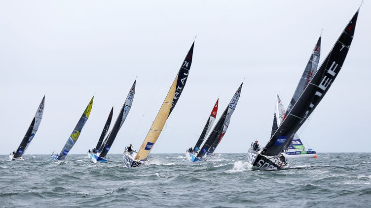 La Solitaire du Figaro, l'an dernier, au large du Havre. (CHARLY TRIBALLEAU / AFP)