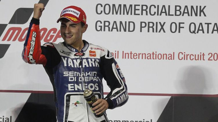 Le bonheur de Jorge Lorenzo sur le podium