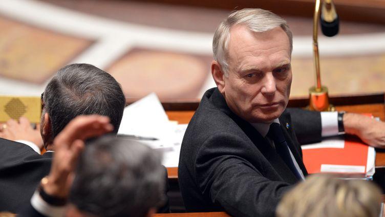 Le Premier ministre, Jean-Marc Ayrault, lors d'une séance de questions au gouvernement, le 19 février 2013 à l'Assemblée nationale. (MIGUEL MEDINA / AFP)