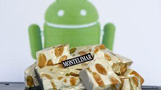 """Google a decide d'appeler la nouvelle version de son systeme d'exploitation mobile """"Nougat"""" (PATRICK GARDIN/WOSTOK PRESS / MAXPPP)"""