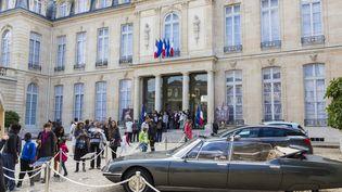 Visite du palais de l'Elysée lors des journée du patrimoine de septembre 2015. (GEOFFROY VAN DER HASSELT / ANADOLU AGENCY / AFP)