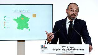 Le Premier ministre Edouard Philippe à Matignon,le 28 mai 2020. (AFP)