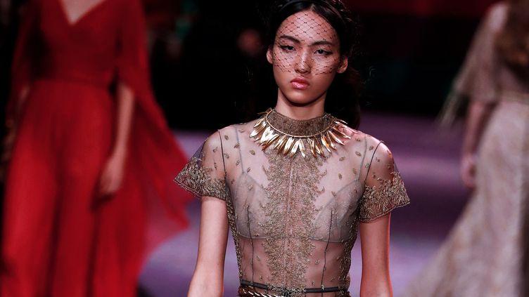 Dior haute couture printemps-été 2020, le 20 janvier 2020 à Paris (FRANCOIS GUILLOT / AFP)