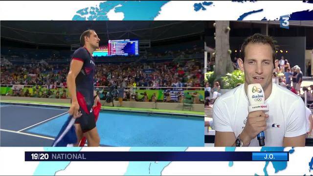 JO 2016 : Renaud Lavillenie heureux de sa deuxième médaille olympique mais triste des sifflets brésiliens