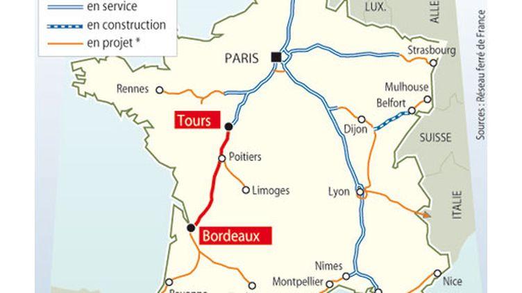 La ligne à grande vitesse Tours Bordeaux (AFP)