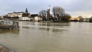 Le centre de Chalon-sur-Saône. (DAMIEN BOUTILLET / FRANCE 3 BOURGOGNE)