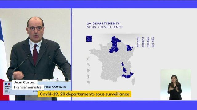 Covid-19 : 20 départements sont placés en surveillance renforcée