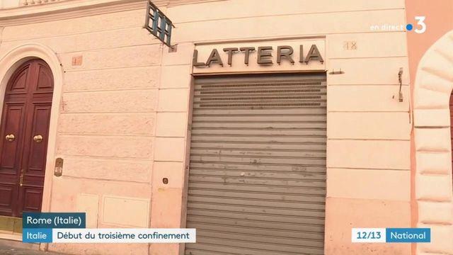 Italie : le pays se confine pour la troisième fois en raison de la propagation du Covid-19