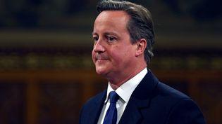 Le Premier ministre David Cameron au Palais de Westminster, à Londres (Royaume-Uni), le 20 octobre 2015. (AFP)