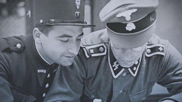 Un policier parisien et un SS côte à côte. Le documentaire du réalisateur David Korn-Brzoza et l'historien Laurent Joly est diffusé mercredi soir 19 septembre sur France 3 à 21h.   (Klarsfeld)