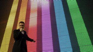 Le chanteur George Michael en concert à Bratislava (Slovaquie), le 25 mai 2007. (SAMUEL KUBANI / AFP)