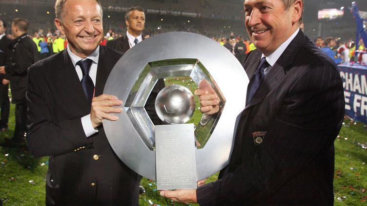Gérard Houllier a remporté deux titres de champion avec l'OL (PHILIPPE MERLE / AFP)