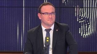Damien Abad, président des du groupe LR à l'assemblée et deputé de l'Ain. (FRANCEINFO / RADIOFRANCE)