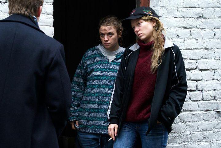 Les actrices françaises Sara Forestier et Léa Seydoux dans Roubaix, une lumière d'Arnaud Despléchin. (Shanna Besson / Wild Bunch Distribution)