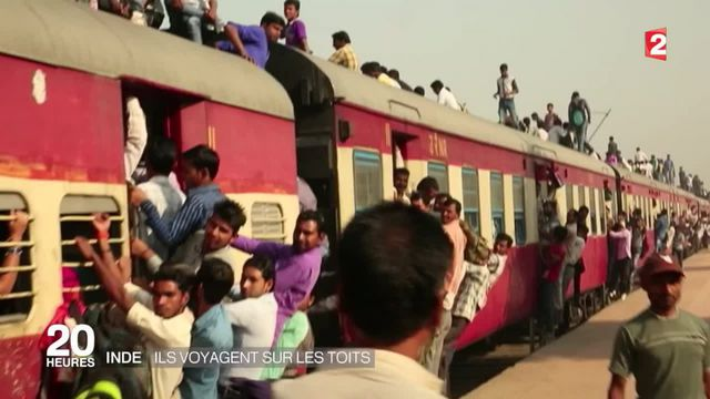 Inde : le réseau ferroviaire saturé, les voyages se font sur les toits des trains