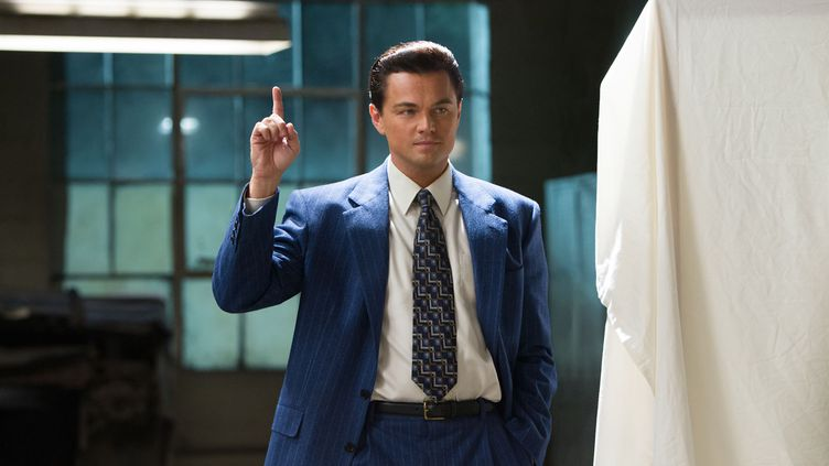 "Leonardo DiCaprio enJordan Belfort, dans ""Le Loup de Wall Street"" de Martin Scorsese sorti en 2013. (© UNIVERSAL PICTURES)"