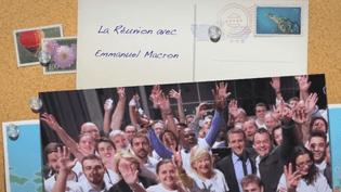 Capture d'écran du clip réunionnais mis en ligne mercredi 22 mars pour accueillir Emmanuel Macron. (THIERRY ROBERT / FACEBOOK)