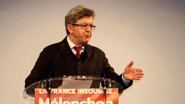 Candidat de la France insoumise dans la 4ème circonscription des Bouches-du-Rhône,Jean-Luc Mélenchon s'adresse à la presse à Marseille le 11 juin 2017. (CITIZENSIDE/DENIS THAUST / CITIZENSIDE)