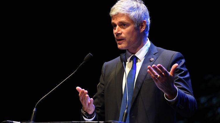 Laurent Wauquiez, lors d'un discours le 20 septembre 2018 à Divonne-les-Bains. (JEAN-PIERRE CLATOT / AFP)