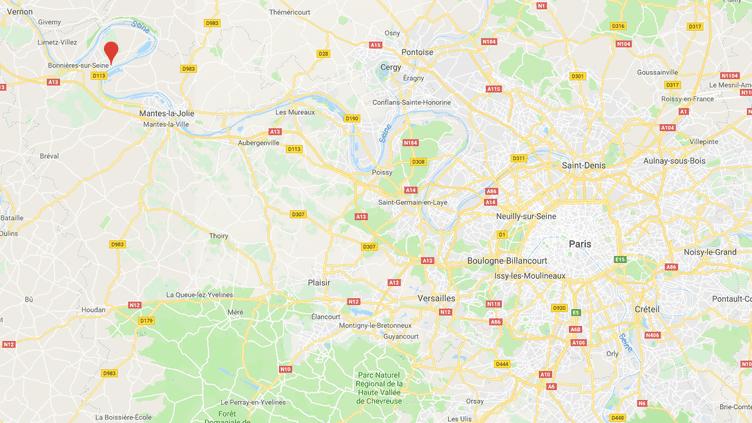 La ville de Méricourt se situe dans les Yvelines. (GOOGLE MAPS / FRANCEINFO)