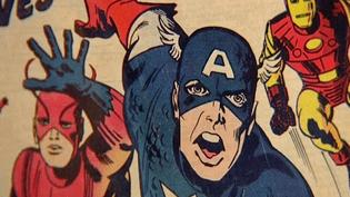 Captain America, l'un des personnages phares de Jack Kirby.  (France 3)