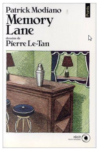"""Le dessin de couverture de """"Memory Lane"""" de Patrick Modiano était signé Pierre Le-Tan. (LE SEUIL)"""