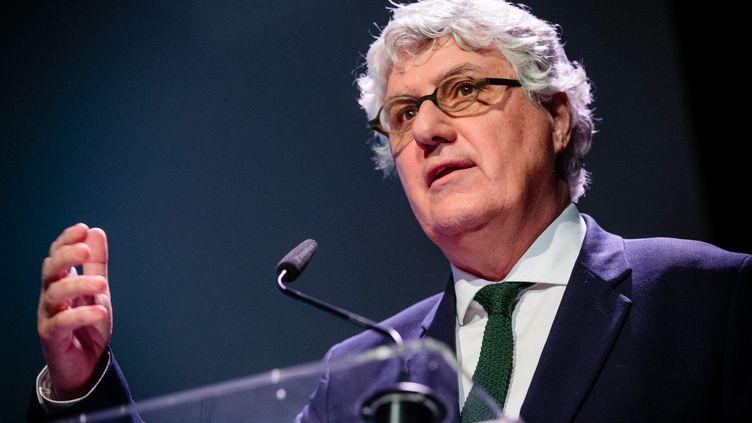 Le président PS du département Gers lors d'une conférence sur l'agricultre biologique, à Paris, le 8 février 2017. (MAXPPP)