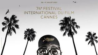 Affiche officielle 2021 du 74e Festival de Cannes ~ Photographie de Spike Lee avec l'autorisation de Bob Peterson & Nike (© ALL RIGHT RESERVED GRAPHIC DISIGN © HARTLAND VILLA)