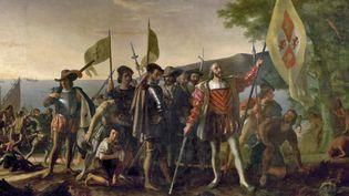"""""""Le débarquement de Colomb"""" - John Vanderlyn - Janvier 1847"""