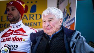 Raymond Poulidro assiste à la 49e édition de l'étoile de Bessèges, le 10 février 2019, à Alès (Gard). (BENJAMIN POLGE / HANS LUCAS / AFP)