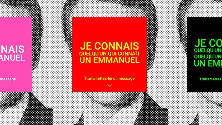 L'association Aides interpelle Emmanuel Macron, le 15 mai 2019, pour mettre fin au sida. (CAPTURE / AIDES)