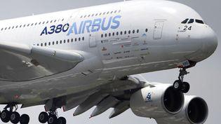 Un Airbus A380, le plus gros avion civil du monde, lors du Salon du Bourget (Seine-Saint-Denis), le 20 juin 2013. (FRANCOIS MORI / AP / SIPA)