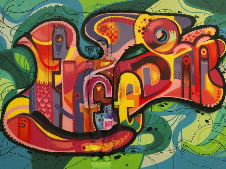 "Liu Bolin, ""Hiding in the City - Paris 11, Freedom Graffiti"", 2013  (Liu Bolin, courtesy of the artist / Galerie Paris-Beijing)"