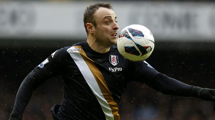 Le joueur de Fulham, Dimitar Berbatov (KERIM OKTEN / MAXPPP)