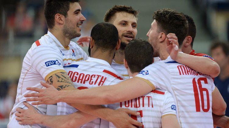 L'équipe de France de volley (EVGENY BIYATOV / SPUTNIK)
