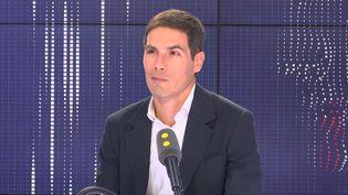 Mathieu Gallet, président-fondateur de Majelan et ancien patron de Radio France,sur le plateau de franceinfo mercredi 5 juin 2019. (FRANCEINFO / RADIOFRANCE)