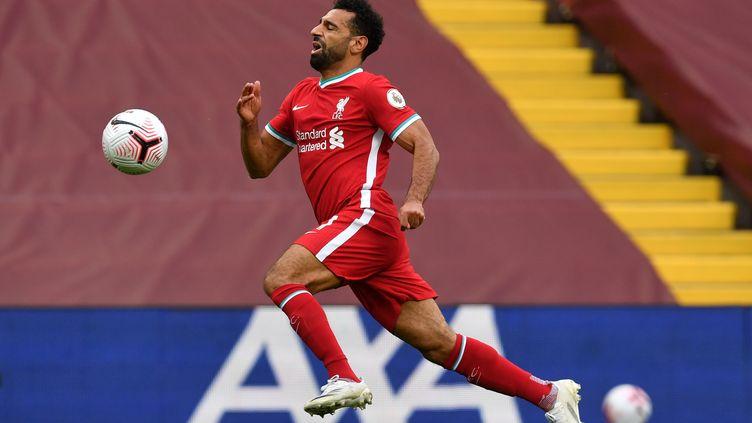 Salah a inscrit un doublé contre Leeds (PAUL ELLIS / POOL)