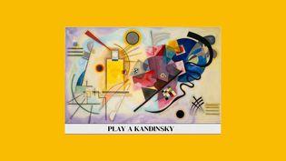 """Une application met ce tableau de Vassily Kandinsky, """"Jaune, rouge, bleu""""(1925), en musique (© Centre Pompidou et Google Arts & Culture)"""