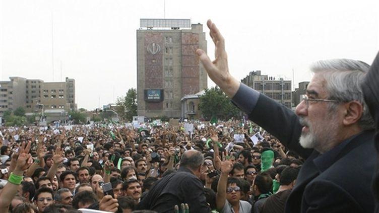 Mir Hossein Moussavi le 18 juin 2009 (AFP PHOTO/GHALAMNEWS.IR)