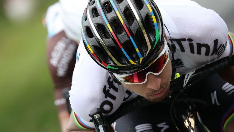 Le champion du monde slovaque Peter Sagan (KENZO TRIBOUILLARD / AFP)