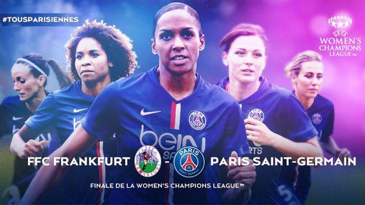 (L'équipe du PSG féminin en finale de la Ligue des Champions)
