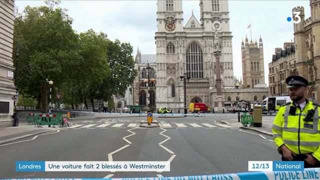 Londres : une voiture fait deux blessés à Westminster