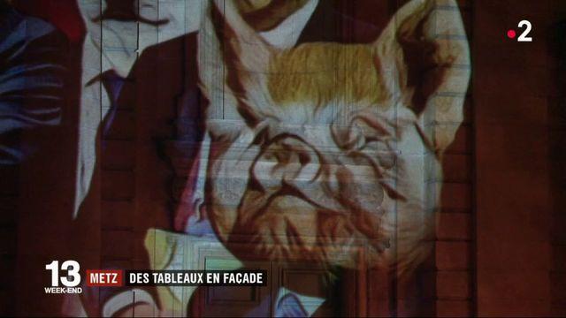 Metz : des tableaux en façade