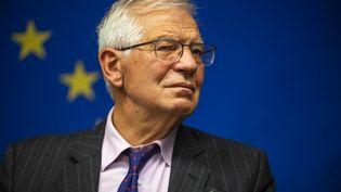 Josep Borrell, le chef de la diplomatie européenne, le 20 septembre 2021, à Bruxelles (Belgique). (BRITTAINY NEWMAN / AP)
