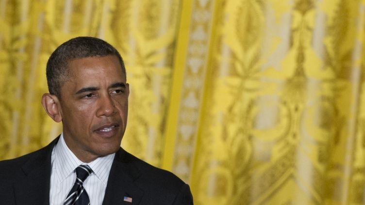 Le président américain, Barack Obama, lors d'un discours à la Maison Blanche à Washington (Etats-Unis), le 13 juin 2013. (SAUL LOEB / AFP)