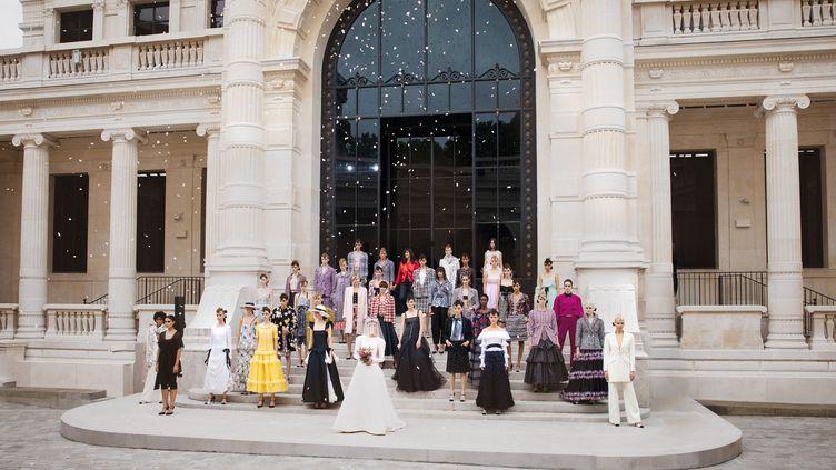 Chanel haute couture automne-hiver 2021-22 à Paris, le 6 juillet 2021 (Courtesy of Chanel)